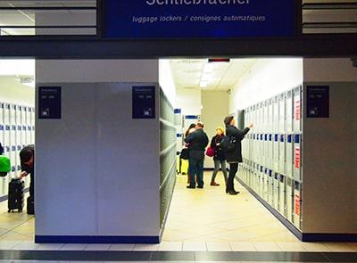 ニュルンベルク駅構内のコインロッカー