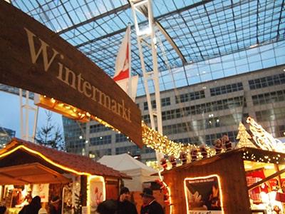 ミュンヘン空港前のクリスマスマーケット