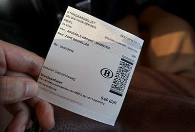 ブリュッセル空港市内列車チケット