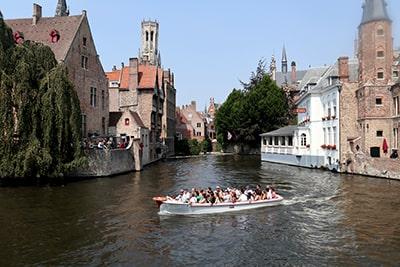 ブルージュの運河クルーズ
