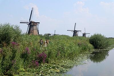 オランダの世界遺産キンデルダイク風車群