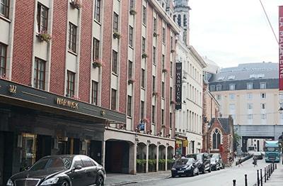ウォーウィック ブリュッセルWarwick Brusselsホテル外観