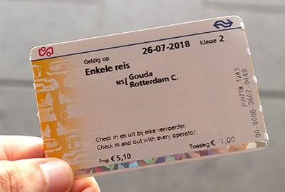 オランダ国鉄NSの1回乗車券