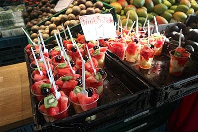 マルクトハルの果物店