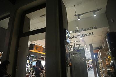 ブリュッセル中心部のカルフール・エクスプレス