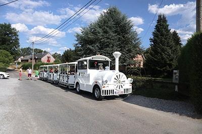 デュルビュイの展望台へのミニ列車