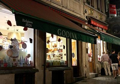 グランプラスにあるGODIVA本店