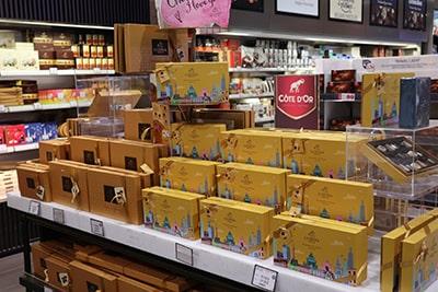 ブリュッセル国際空港チョコレート売り場