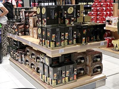 ブリュッセル国際空港ビール売り場