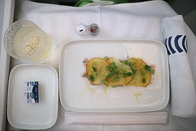 フィンエアービジネスクラス機内食・前菜