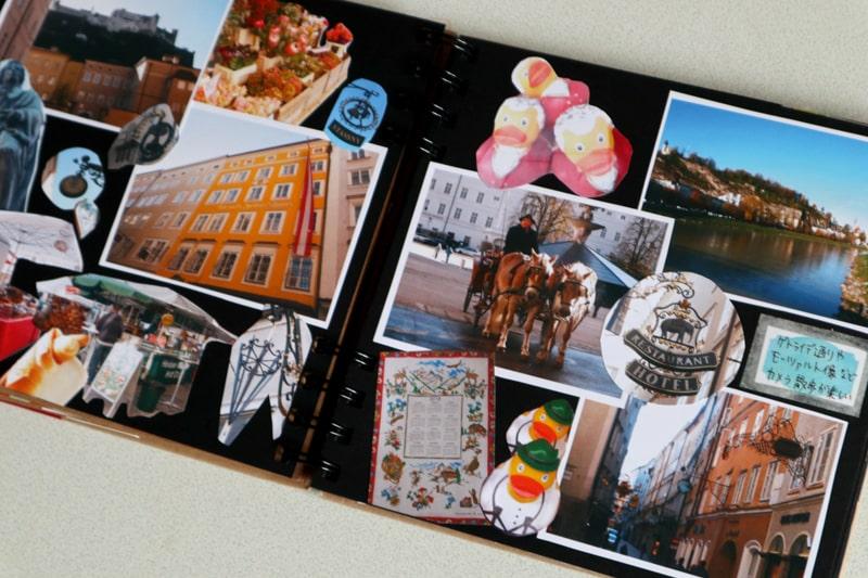 オーストリア旅行のスクラップブック