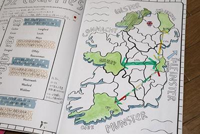 アイルランドのアクティビティブック