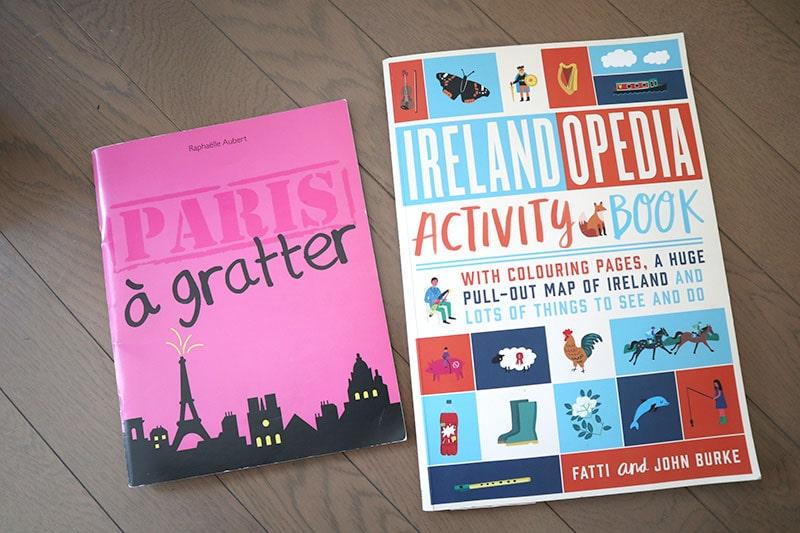 パリとアイルランドのアクティビティブック