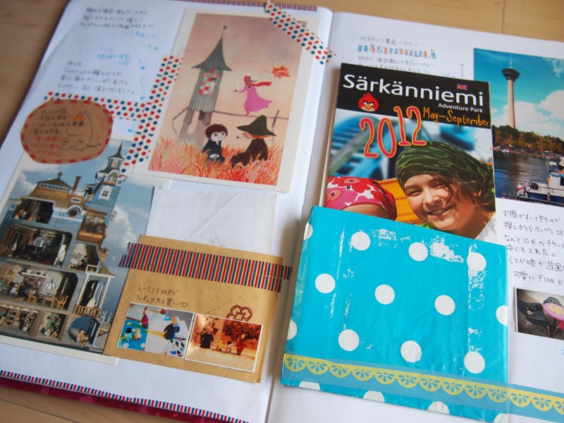 フィンランド旅行のスクラップブック