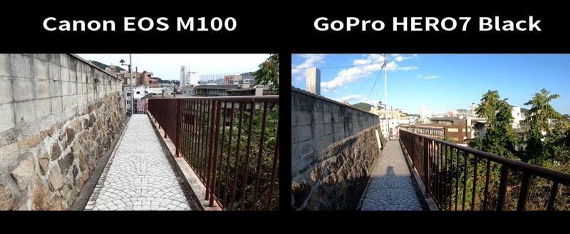 GoProとミラーレス一眼の比較