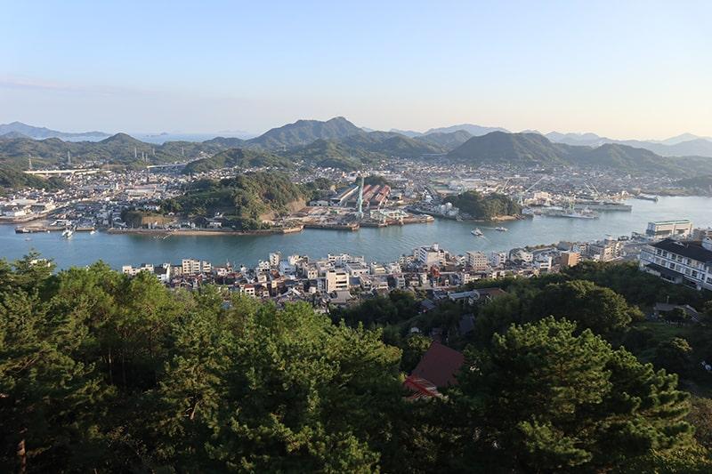 千光寺山展望台からの眺め