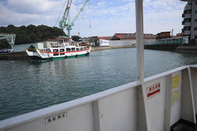 福本渡船からの景色