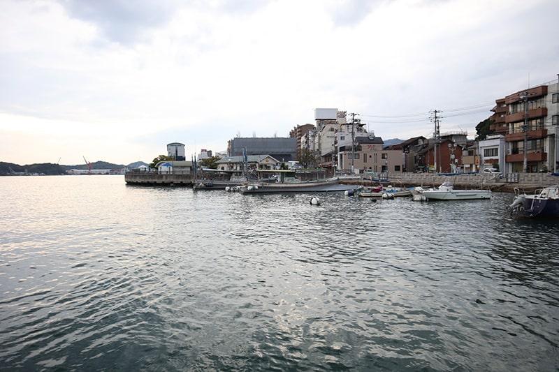 福本渡船からの風景