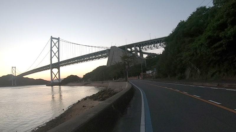 しまなみ海道サイクリング因島大橋