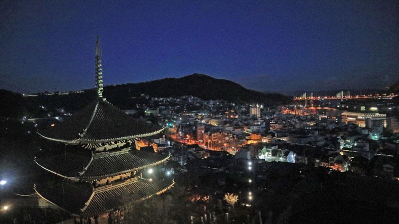 天寧寺三重塔からの夜景