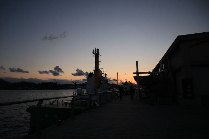 尾道水道の夕焼け