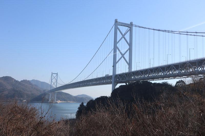 はっさく屋からみる因島大橋
