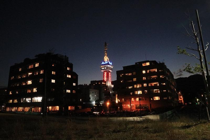 別府タワーライトアップ