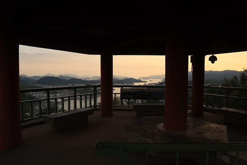 浄土寺山展望台の夕焼け
